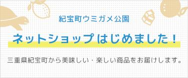 紀宝町ウミガメ公園 ネットショップはじめました!