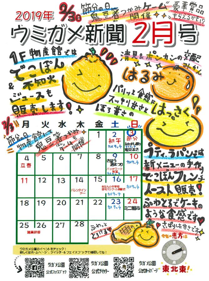 ウミガメ新聞 イベントカレンダー
